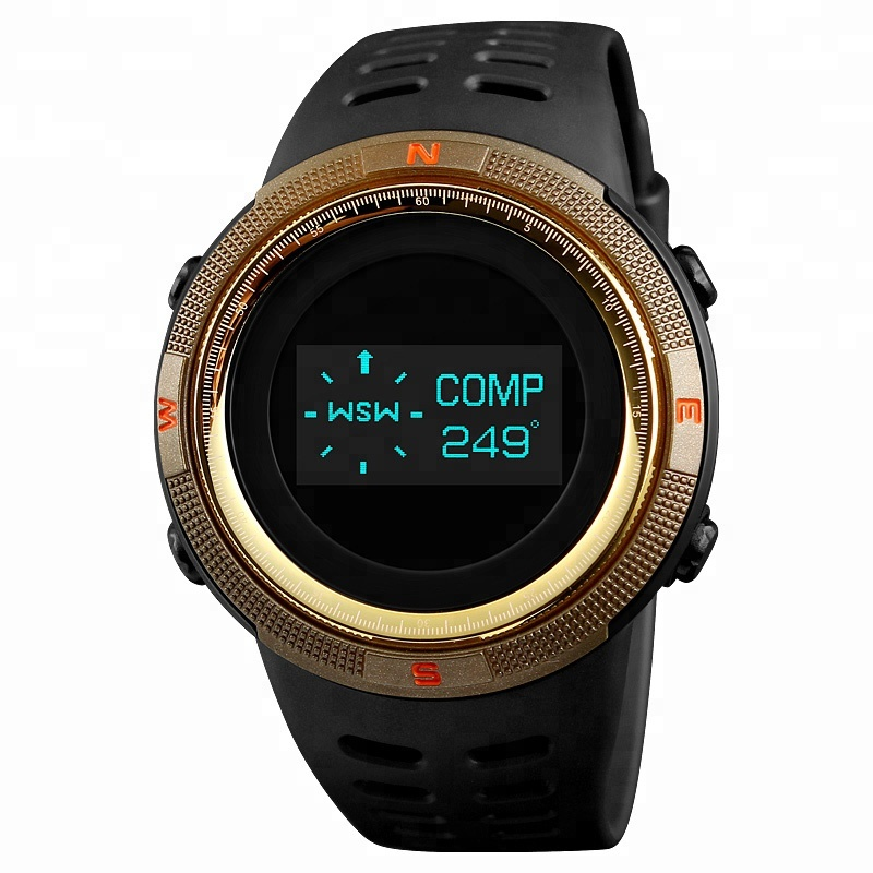 Skmei 1360 OLED Display High Quality Double Time Sports Pedometer Thermometer Watch Compass Watch China Alibaba фото