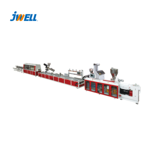 Jwell special designed screw and barrel plastic extrusion lines for wood plastic products