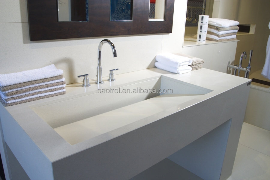 Long Narrow Bathroom Basin,toughness Faux Stone Wash Basin Type
