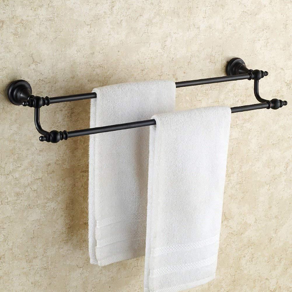 EQEQ Bath Rooms Rack Towel Rack/Copper Antiquity Towel Rack/Black Copper Towel Holder Double Bath Rooms/Trailer/Towel Rail (Size: 60 cm).