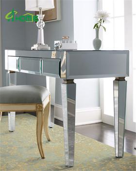 modern mirrored long glass office desk buy mirror desk modern rh alibaba com mirror office desk Elyse Mirrored Desk