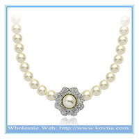 Italina fashion diy beads jewelry making nice pearl chain and pearl pendant necklace