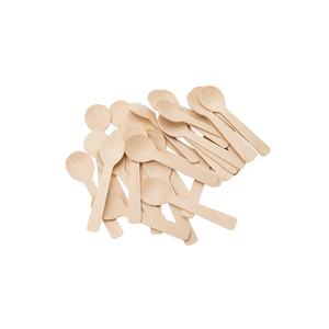 Mini wooden disposable tableware measuring spoon