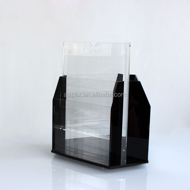 A-2OF0003 Hot sell acrylic stand for magazine book folding book stand