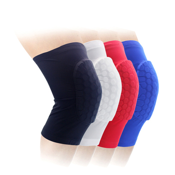 Lycra Cellular Honeycomb Crashproof Antislip Basketball Protective Protector Knee Pad Compression Long Leg Sleeve