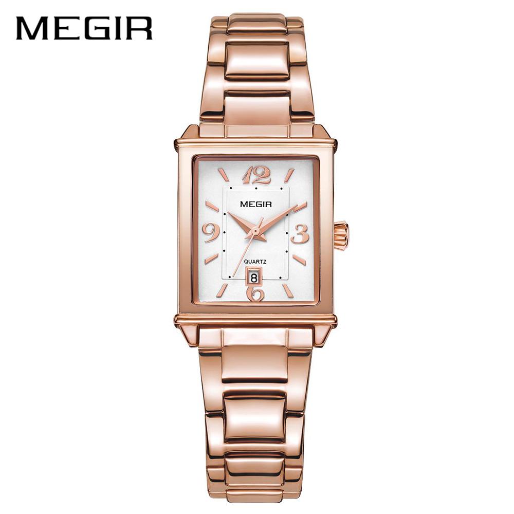 Megir brand luxury simple women watches stainless steel watch women quartz ladies wrist watch gold relogio feminino reloj mujer фото
