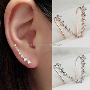 Sparkly Earring Accessories Stars Ear Clips Wrap Earring Studs