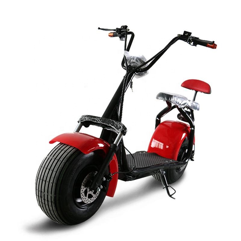 Europe warehouse 40-60km Range Per Charge and CE Certification eec electric scooter type/electric bike kit with COC, Black