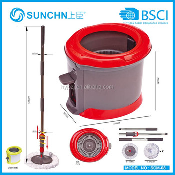 360 microfiber single bucket magic spin mop