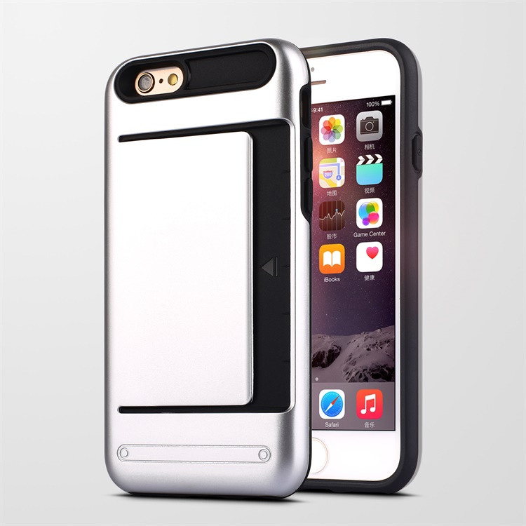 2016 Hot Selling 2 in 1 Hybrid Mobile Phone Case With Card Needle And SIM Card Hidden For iPhone 6
