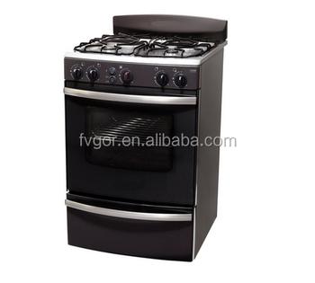 Profesional Seri Fv50ct19 Peralatan Dapur Restoran Gas Range Dengan 4 Burner Oven