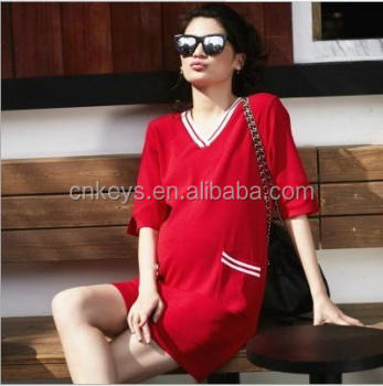 09a46b94263c3 K2966A 2017 Latest Fashion Knitted Maternity Dress For Women European Long  Sleeve Dress For Pregnant Ladies