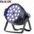 RIUKOE indoor disco stage light rgbw led par 4in1 18x10w zoom china led par cans
