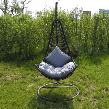 Exceptionnel Hot Sell One Person Metal Frame Outdoor Rattan Hanging Egg Swing Chair For  RH44