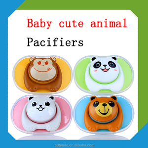 BPA free silicone lovely baby cartoon pacifier with dust cover baby nipple with cute animal toy