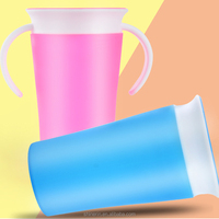 High Quality 360 Trainer Cup with Straw Spill Proof Water Bottle for Baby Toddlers,BPA Free