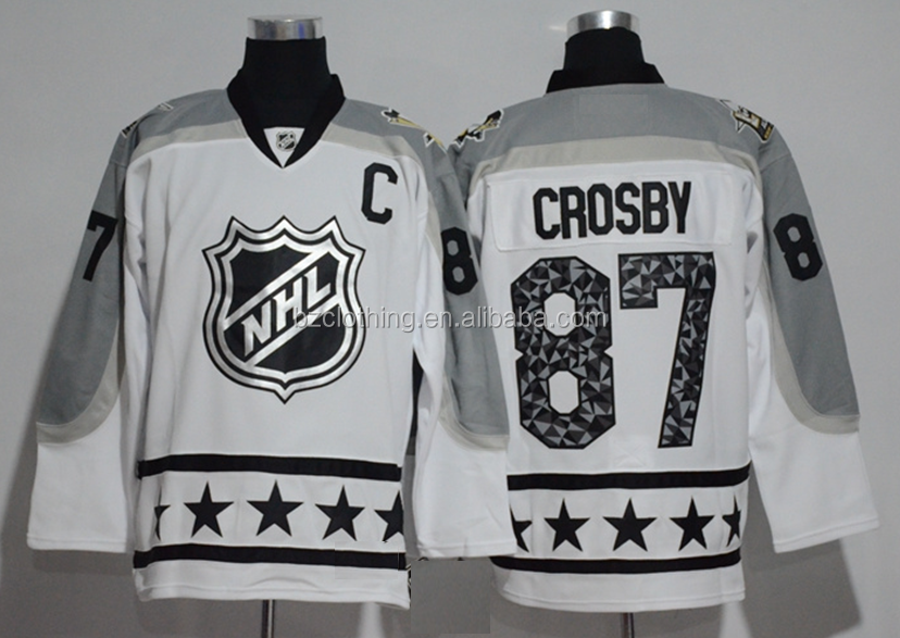 Pittsburgh Penguins #87 Sidney Crosby 2017 NHL All Star White Ice Hockey Jersey