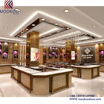 Chinese Supplier Luxury Custom High End India Style Jewelry Shop