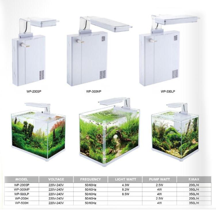 SOBO LED lamp back hanging filter 2 in 1 aquarium fish tank equipment