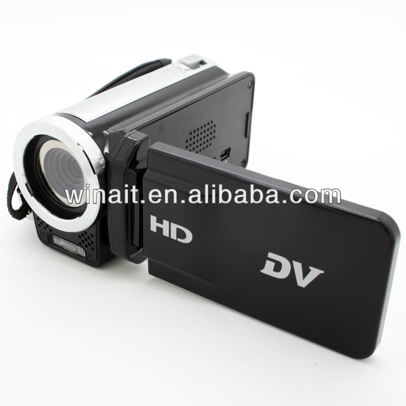 "4X digital zoom 0.3-2.0MP Coms sensor digital camcorder with 2.4"" TFT LCD"