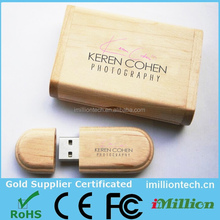 2C logo printing 2gb wooden usb key