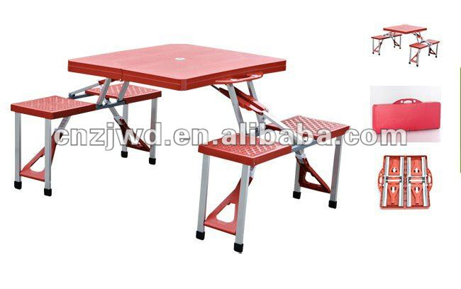 4 asientos de pl stico mesa plegable camping mesas for Mesa plegable camping