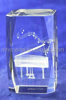 K9 Glass Crystal Cube With Piano Inside Mh F0328 Buy