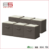 Brown Fabric Collapsible Clothing Storage Cube Organizer Drawers