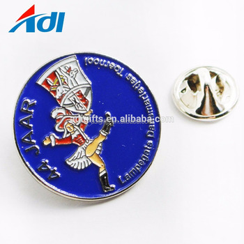 High quality custom sale enamel lapel pins round metal badge