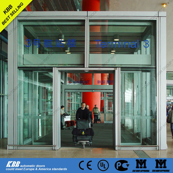 Automatic sliding door operator with panic breakout system