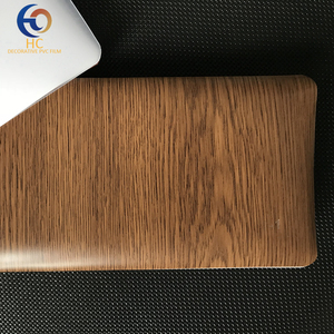 High quality wood grain texture Decorative PVC membrane foil / film / roll matte / frosted vacuum press for furniture