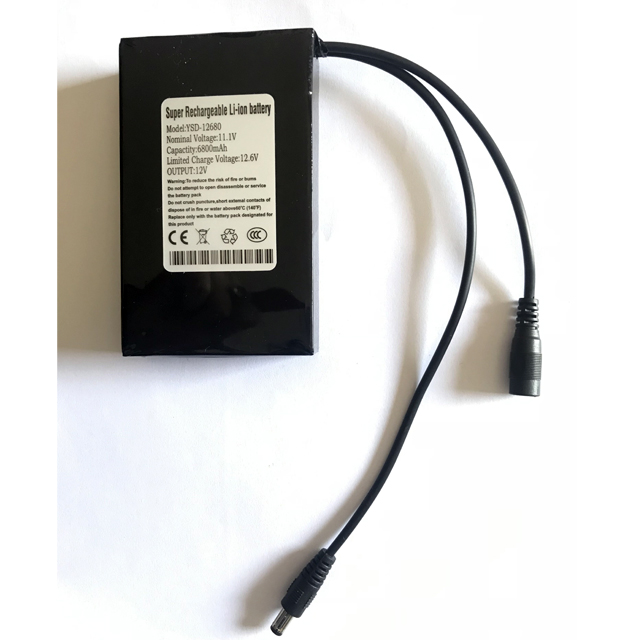 Rechargeable 6800mAh DC 12V Super Li-ion Polymer <strong>Battery</strong> for Wi-Fi Boosters,solar panel,Lan router