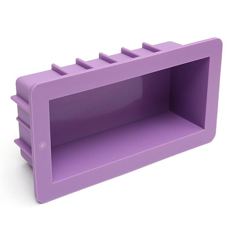 Hot Selling 1 Cavity Rectangle Silicone Loaf Soap <strong>Mold</strong>