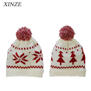 7aeb3cd903a76 Lovely Knitted Baby Christmas Hat