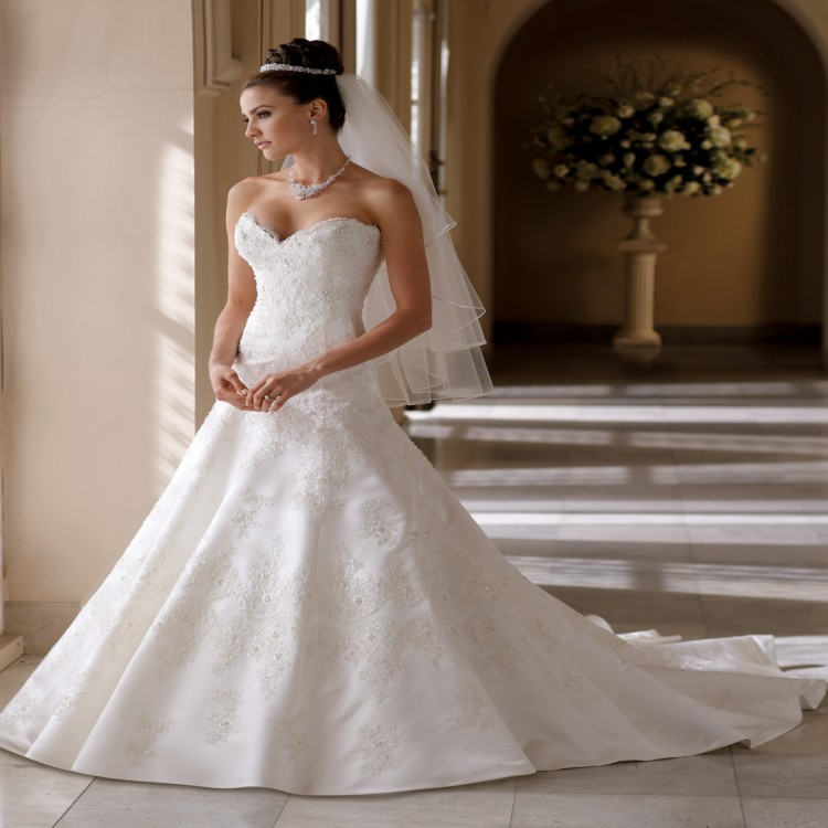 David S Bridal Plus Size Wedding Gowns: 2015 Plus Size Wedding Dress Sexy Strapless Embroidery