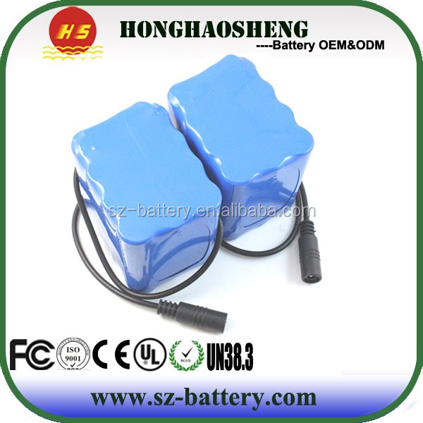 OEM portable popular high energy density battery pack 18650 11.1v 8000mAh