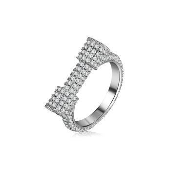 2018 Baru Kedatangan Wanita 18 K Platinum Emas Putih Dipenuhi Pave Aaa Batal Cubic Zirconia D Surat Cincin Buy Cubic Zirconia Cincincubic Zirconia