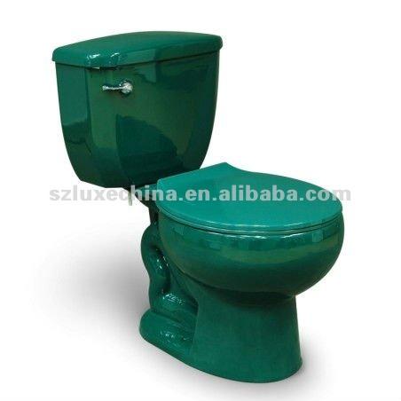 bouton lat ral toilettes vert fonce avec abattant s piege toilettes siphonique salle de bains. Black Bedroom Furniture Sets. Home Design Ideas