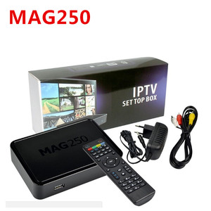 Linux mag250 IPTV box + Usb Wifi Set Top Box support Cable Not include IPTV account Mag 250 tv set top box