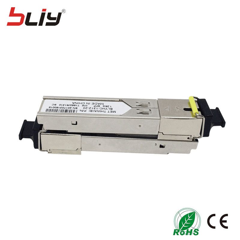 1.25G gigabit module SFP 3KM SC connector mini GBIC single fiber single mode DDM WDM BIDI 1000M fiber optical SFP module