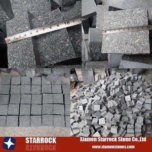Top sales green porphyry Cheap pavement granite cube stone