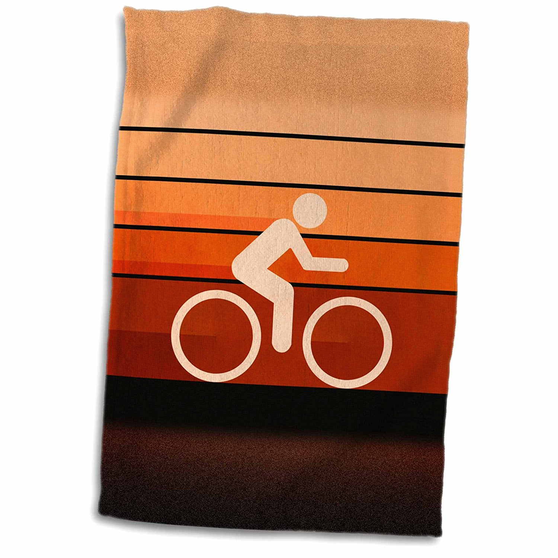 3dRose Phil Perkins - Graphic Design - Biking Orange - colorful textured graphic design promoting biking - 12x18 Towel (twl_173471_1)