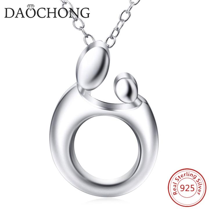Precio de fábrica 925 plata esterlina moda marco redondo Collar para ...