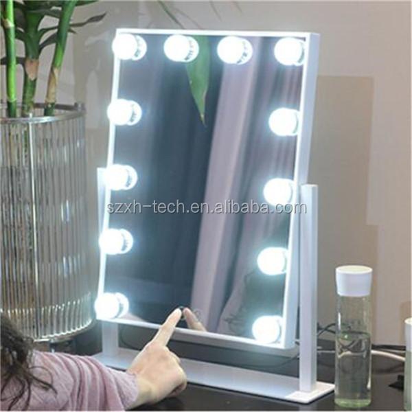 m ilumay hollywood led espejo de vanidad iluminado con luz bombillas