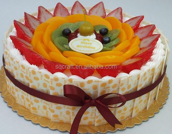 Birthday Cake Model With High Quality Fruit Decoration Yiwu Sanqi Crafts Factory
