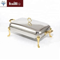 Hotel Restaurant Equipment Gold Plate Stainless Steel Mini Chafing Dish Food Warmer