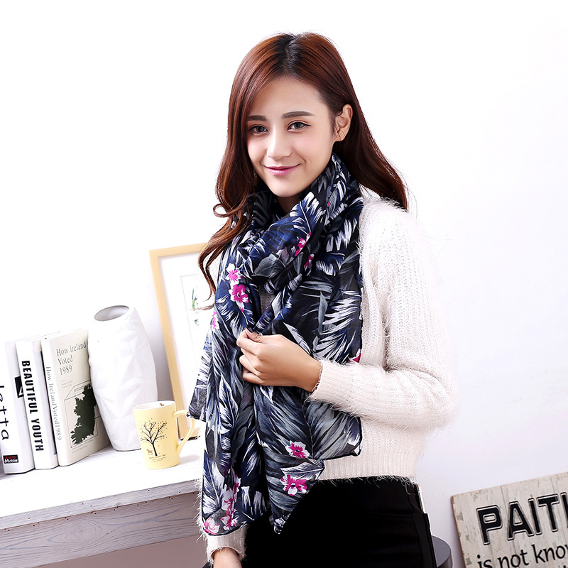 Your Own Design Silk Fabric Digital Printed Scarves for Ladies