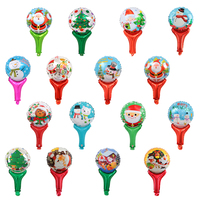 Merry Christmas decoration hand stick balloon Happy New Year children gift party DIY ballon boy Santa Claus snowman ball tree