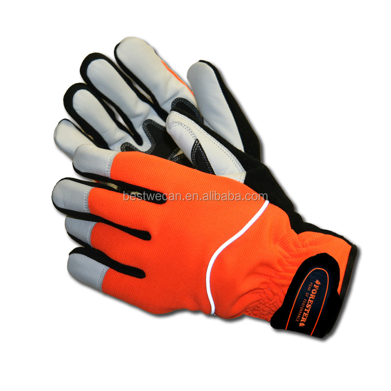 Winter Insulated thermal work glove with Reflective and Waterproof for cold storage or winter outdoor working