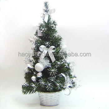 2015 hot sale artificial decorated mini christmas tree - Mini Christmas Tree Decorations